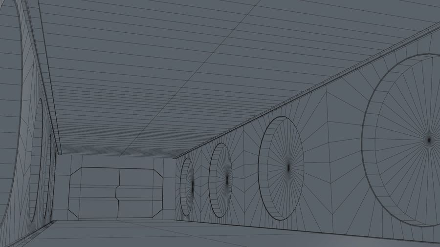 Sci Fi Corridor royalty-free 3d model - Preview no. 15