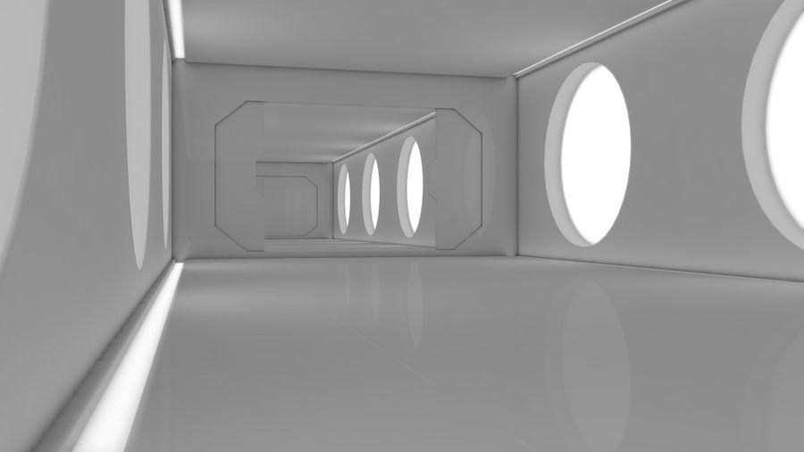 Sci Fi Corridor royalty-free 3d model - Preview no. 9