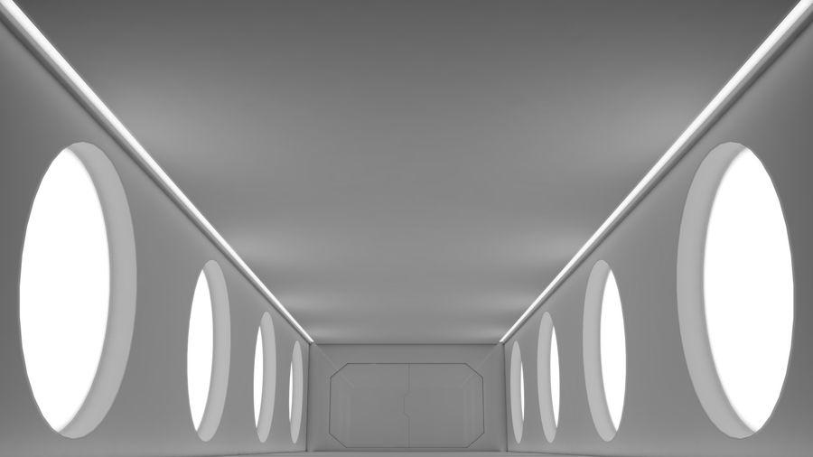 Sci Fi Corridor royalty-free 3d model - Preview no. 7
