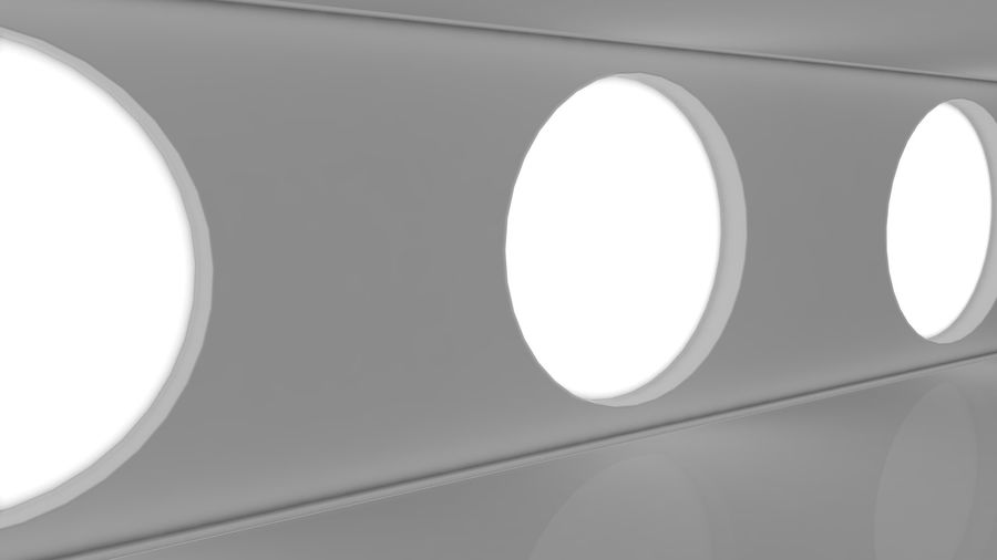 Sci Fi Corridor royalty-free 3d model - Preview no. 4