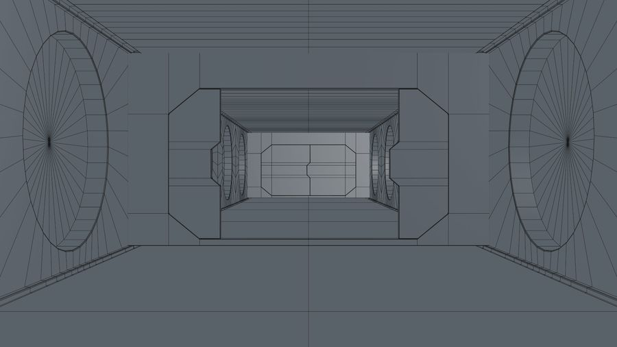 Sci Fi Corridor royalty-free 3d model - Preview no. 23