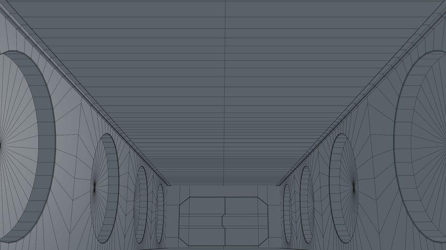 Sci Fi Corridor royalty-free 3d model - Preview no. 12