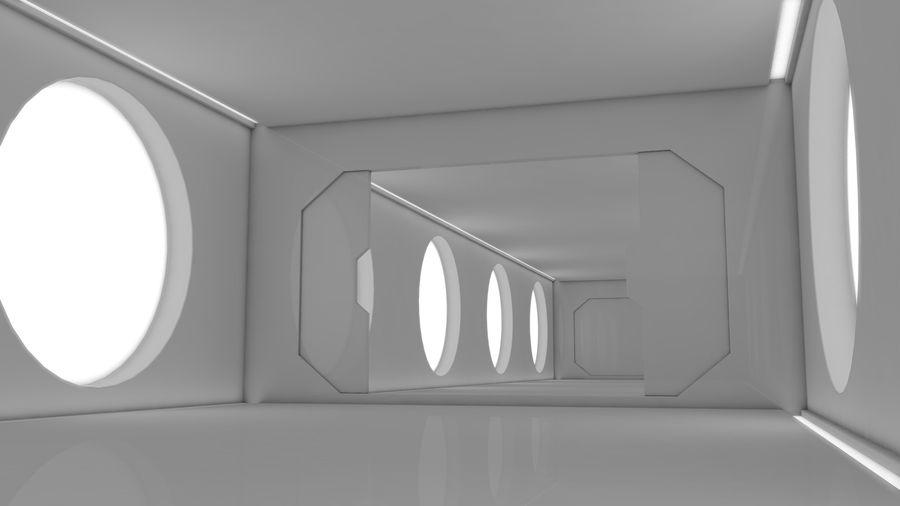 Sci Fi Corridor royalty-free 3d model - Preview no. 3