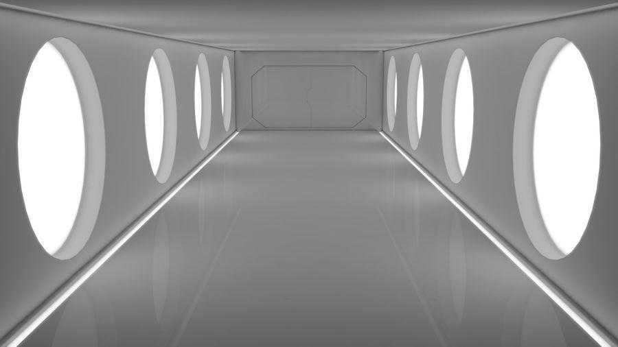 Sci Fi Corridor royalty-free 3d model - Preview no. 8