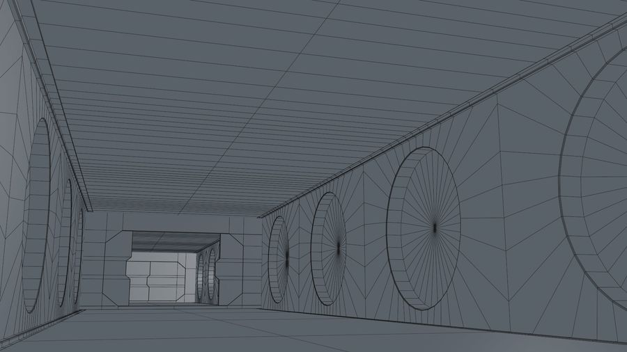 Sci Fi Corridor royalty-free 3d model - Preview no. 19