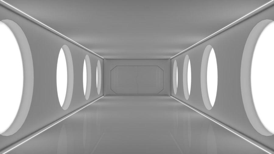 Sci Fi Corridor royalty-free 3d model - Preview no. 1