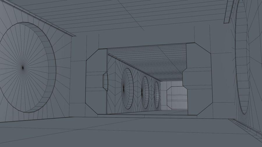Sci Fi Corridor royalty-free 3d model - Preview no. 18
