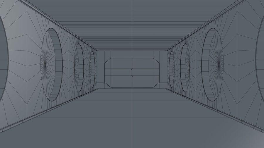 Sci Fi Corridor royalty-free 3d model - Preview no. 11
