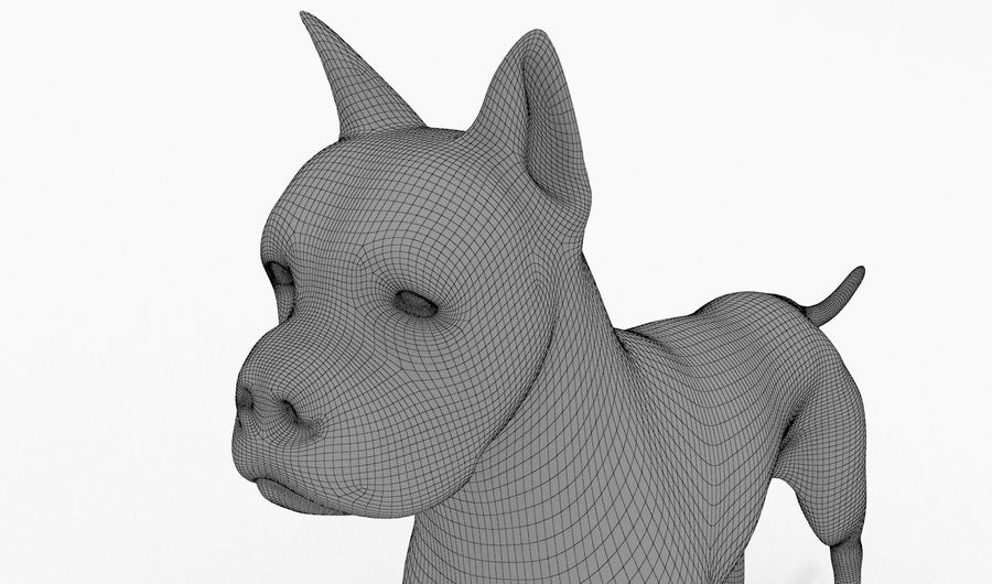 German Boxer Dog royalty-free 3d model - Preview no. 15