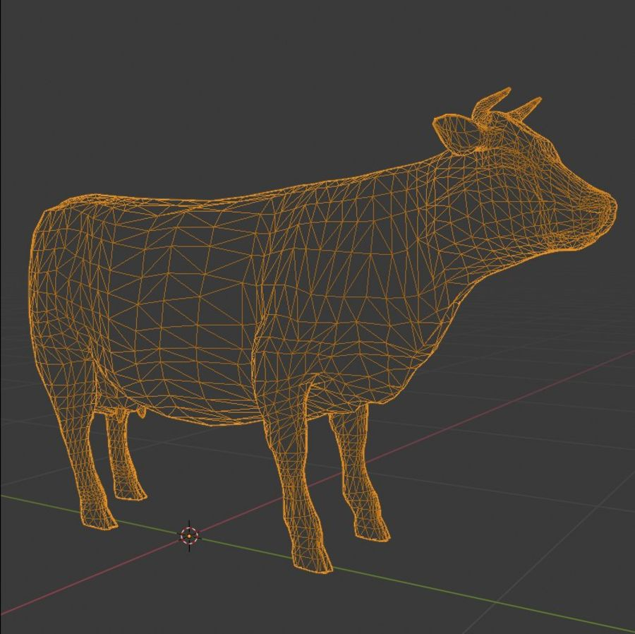 Cow Animated Rigged royalty-free 3d model - Preview no. 5