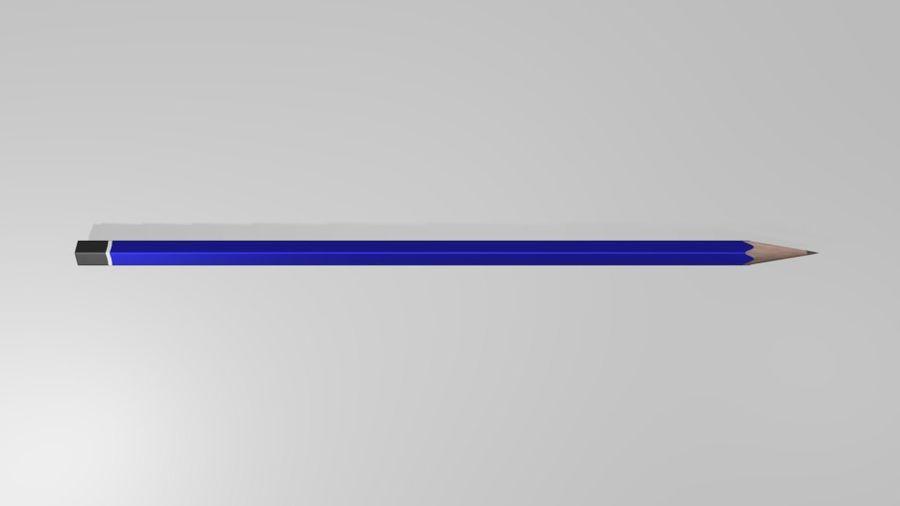진한 파란색 연필 royalty-free 3d model - Preview no. 3