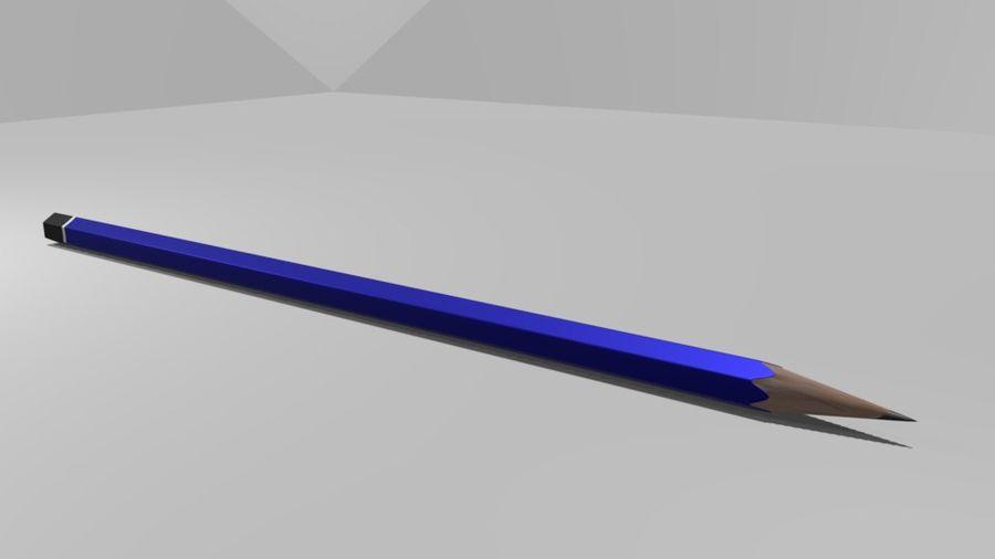진한 파란색 연필 royalty-free 3d model - Preview no. 2