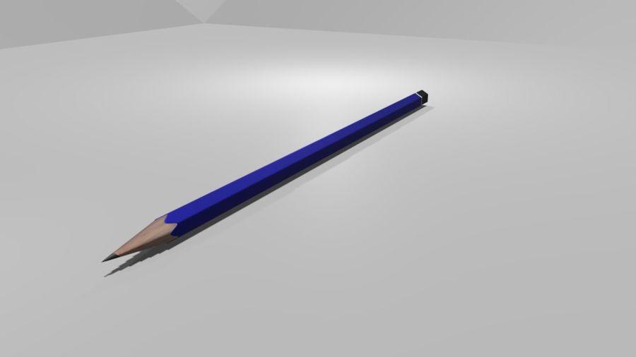 진한 파란색 연필 royalty-free 3d model - Preview no. 1