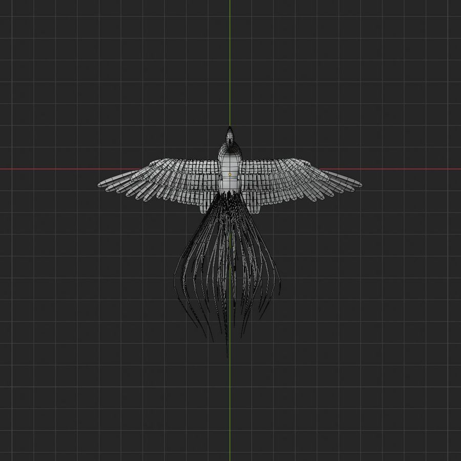 Realistic Rigged Low Poly Peacock royalty-free 3d model - Preview no. 9