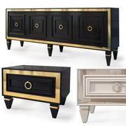 Table de nuit Art Déco, meuble tv. Bornova 3d model