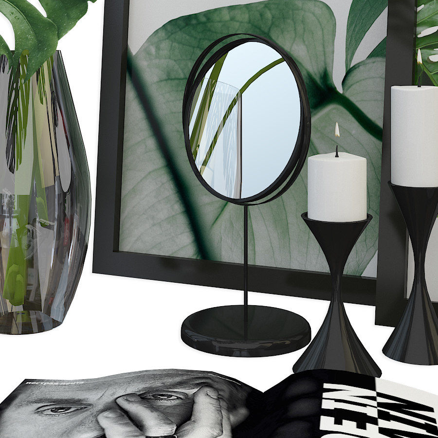 Decorative set for the interior 3 royalty-free 3d model - Preview no. 4