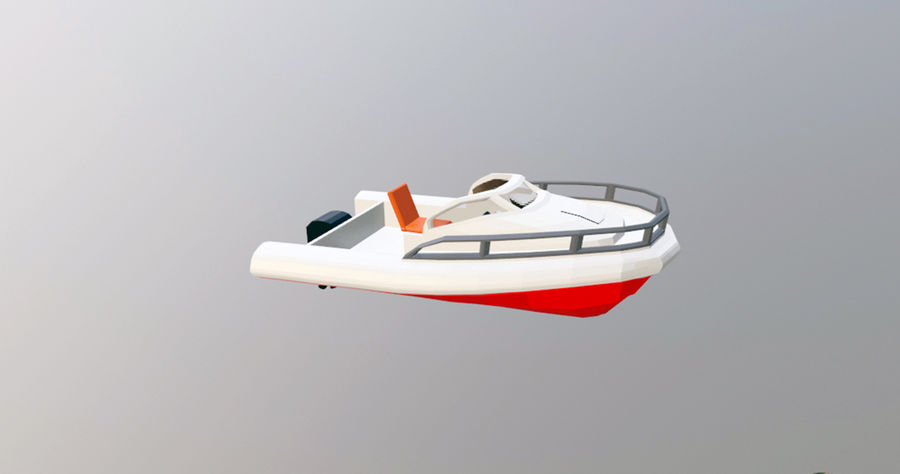 speedboat royalty-free 3d model - Preview no. 1