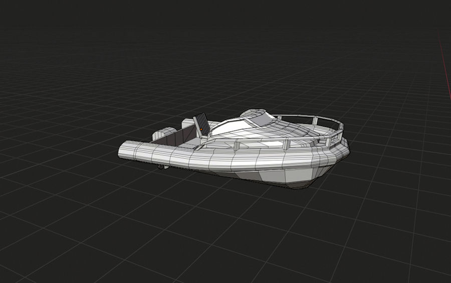 speedboat royalty-free 3d model - Preview no. 2