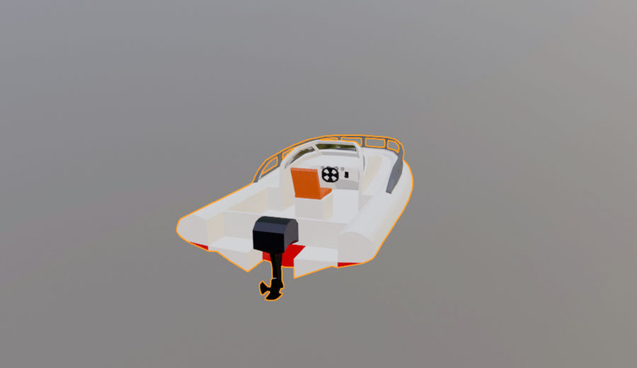 speedboat royalty-free 3d model - Preview no. 5