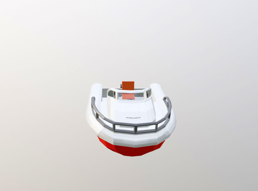 speedboat royalty-free 3d model - Preview no. 3
