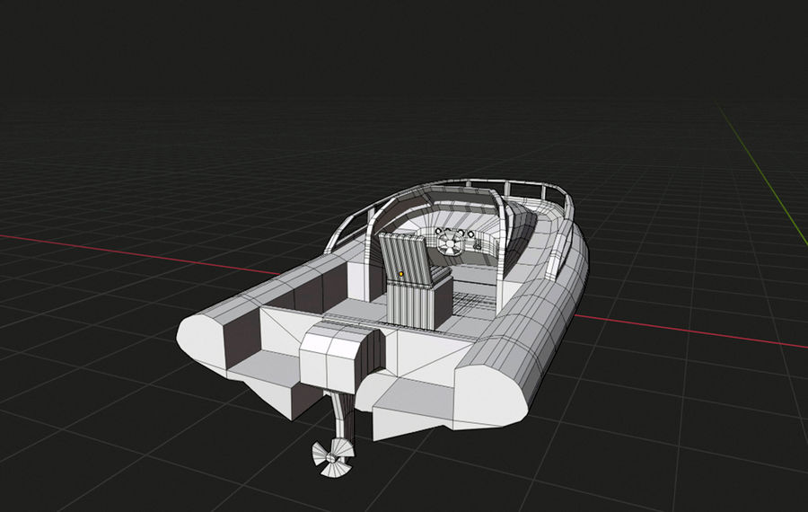 speedboat royalty-free 3d model - Preview no. 6