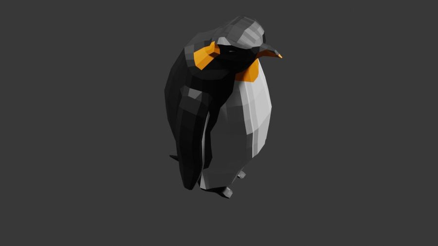 Penguin Low Poly royalty-free 3d model - Preview no. 5