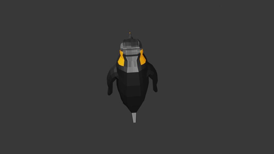 Penguin Low Poly royalty-free 3d model - Preview no. 3