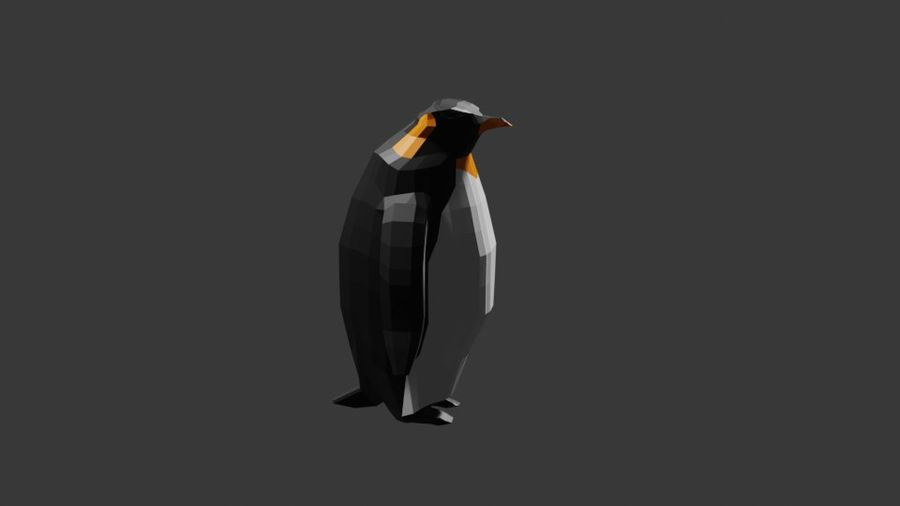 Penguin Low Poly royalty-free 3d model - Preview no. 2