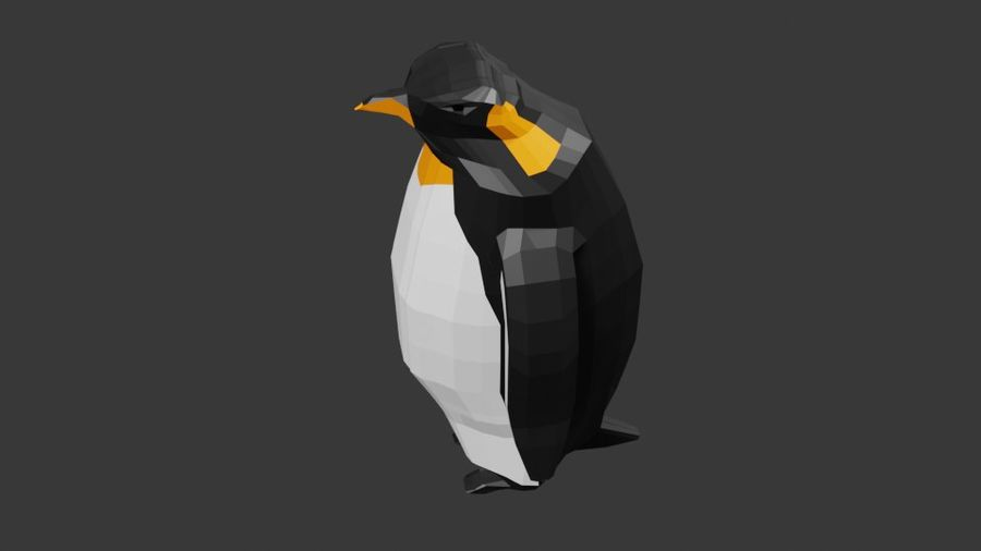 Penguin Low Poly royalty-free 3d model - Preview no. 4