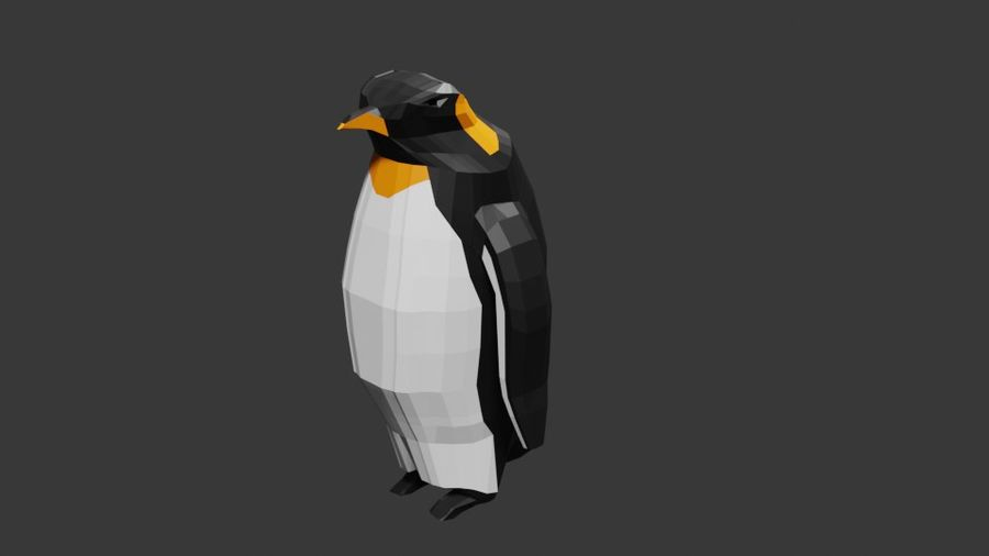 Penguin Low Poly royalty-free 3d model - Preview no. 1