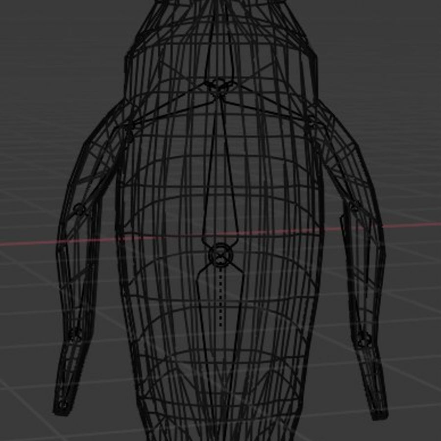 Penguin Low Poly royalty-free 3d model - Preview no. 6