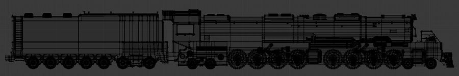Low-Poly Steam Engine Locomotive royalty-free 3d model - Preview no. 9