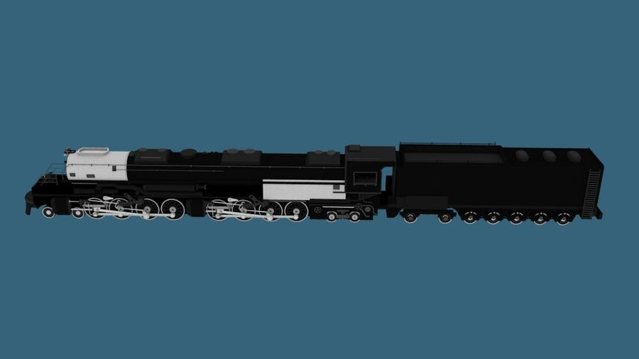 低ポリ蒸気機関機関車 royalty-free 3d model - Preview no. 5
