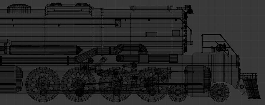 低ポリ蒸気機関機関車 royalty-free 3d model - Preview no. 10