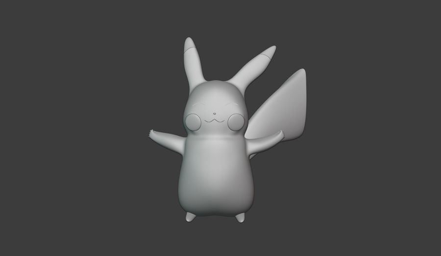 Pikachu and PokeBalls royalty-free 3d model - Preview no. 4