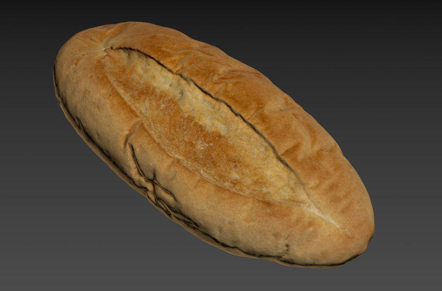 Bread loaf royalty-free 3d model - Preview no. 1