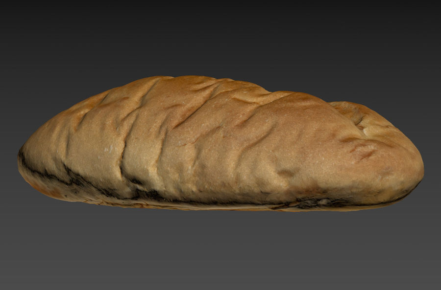 Bread loaf royalty-free 3d model - Preview no. 3