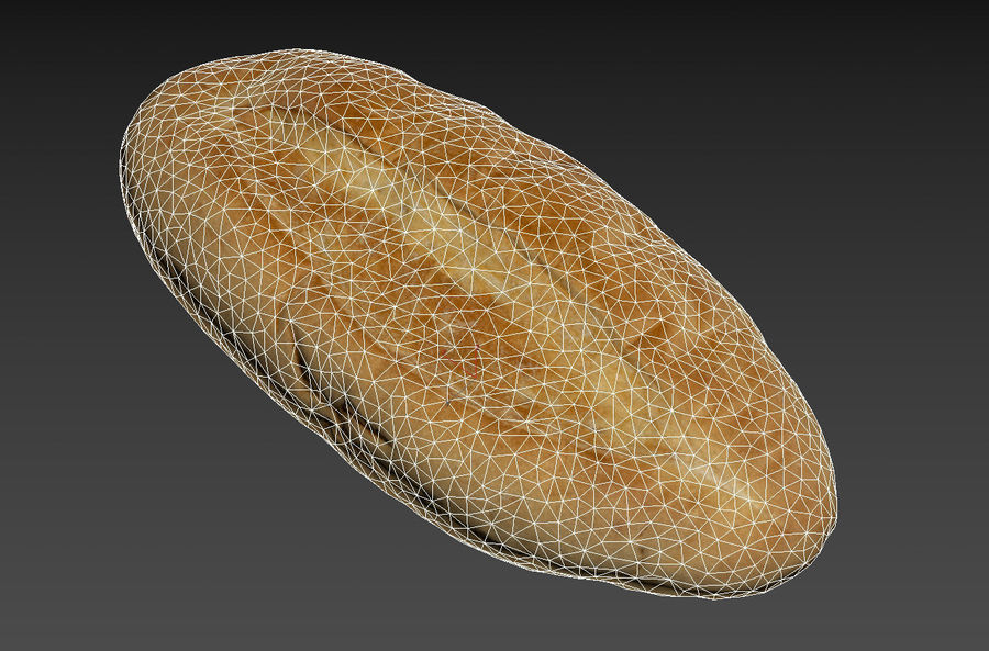 Bread loaf royalty-free 3d model - Preview no. 6