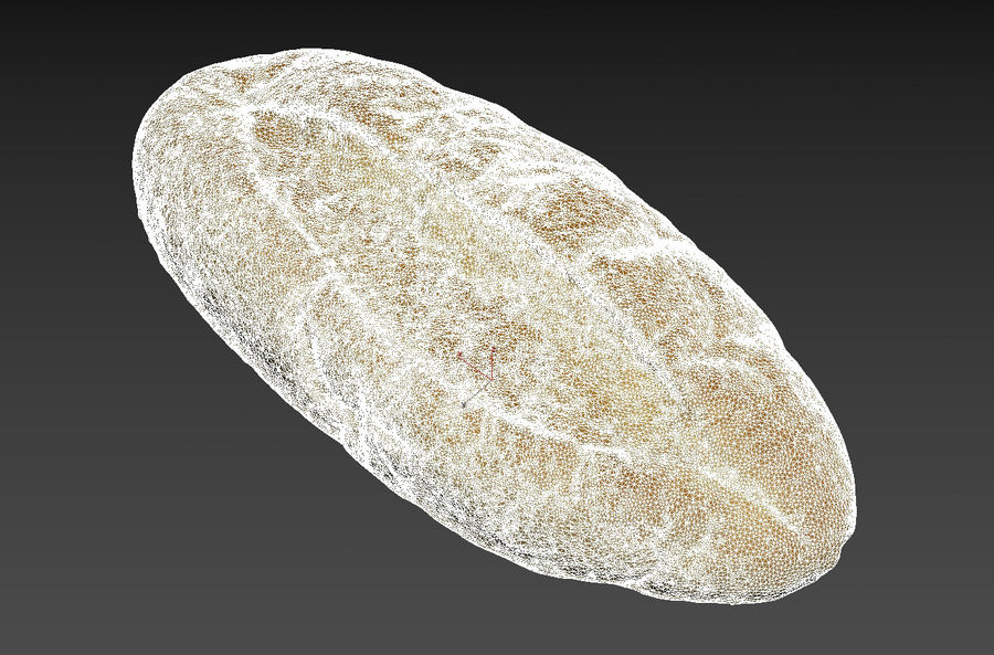 Bread loaf royalty-free 3d model - Preview no. 4