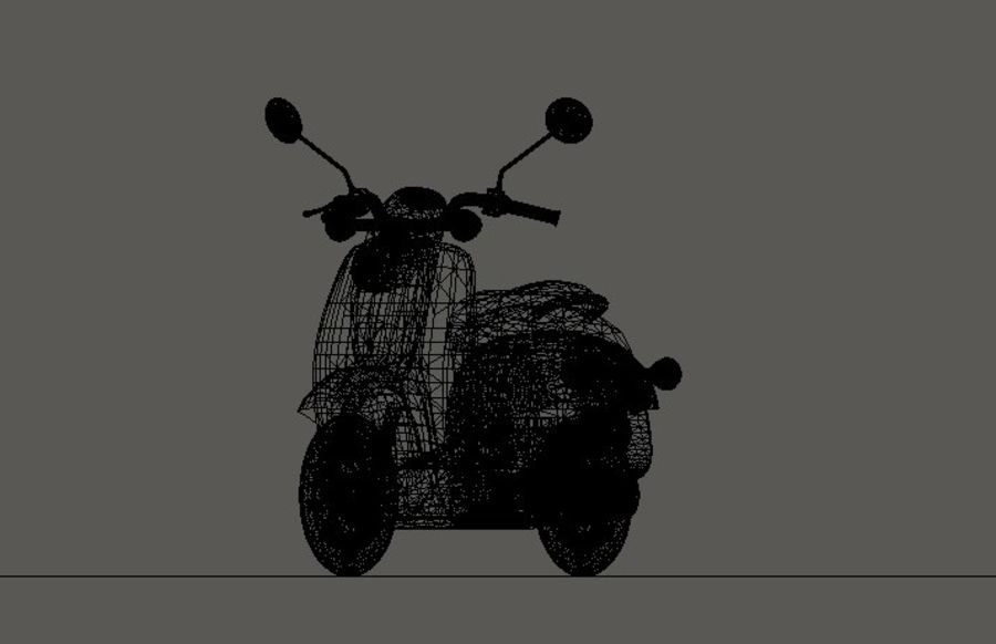 Classic Scooty royalty-free 3d model - Preview no. 8