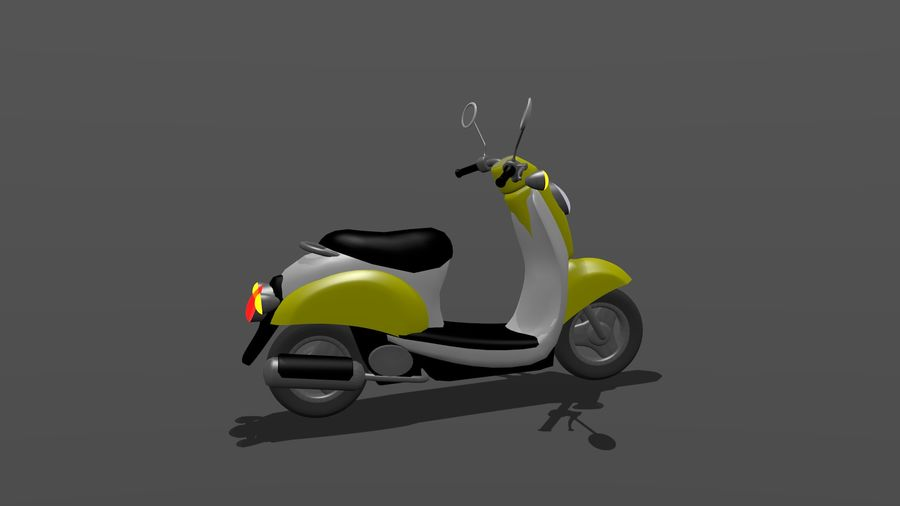 Classic Scooty royalty-free 3d model - Preview no. 3