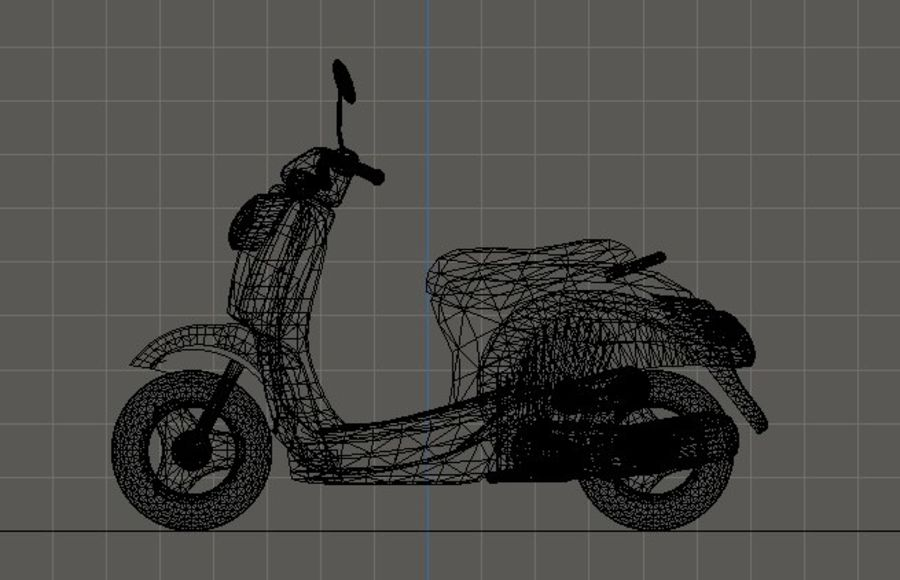 Classic Scooty royalty-free 3d model - Preview no. 7