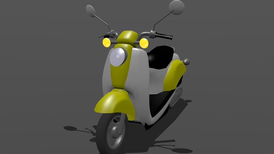 Classic Scooty royalty-free 3d model - Preview no. 1