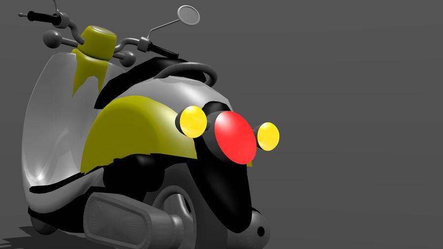 Classic Scooty royalty-free 3d model - Preview no. 5