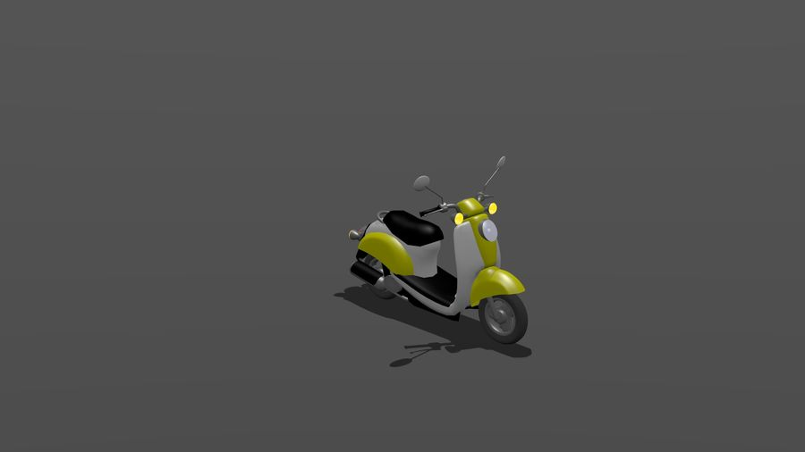 Classic Scooty royalty-free 3d model - Preview no. 2