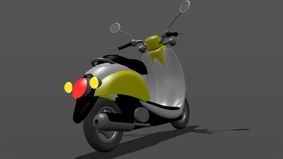 Classic Scooty royalty-free 3d model - Preview no. 4