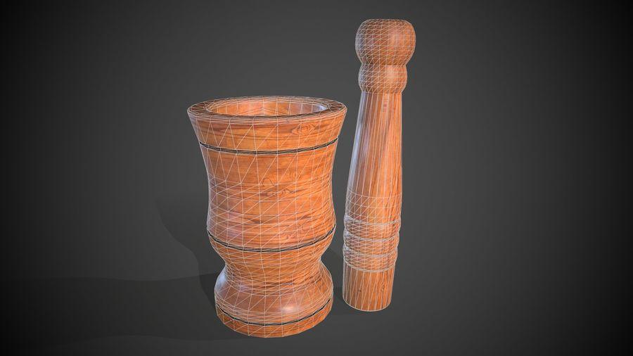 Wooden Garlic Mortar royalty-free 3d model - Preview no. 8