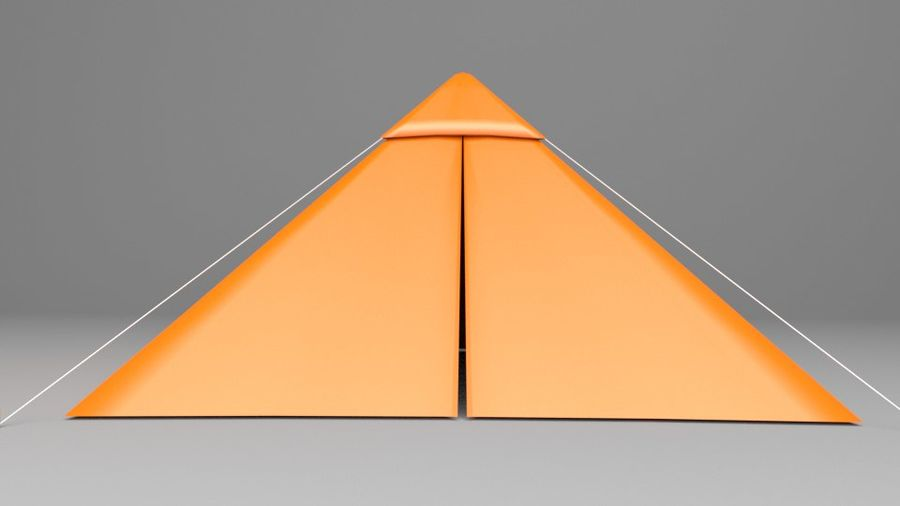 Pyramid Tent royalty-free 3d model - Preview no. 3