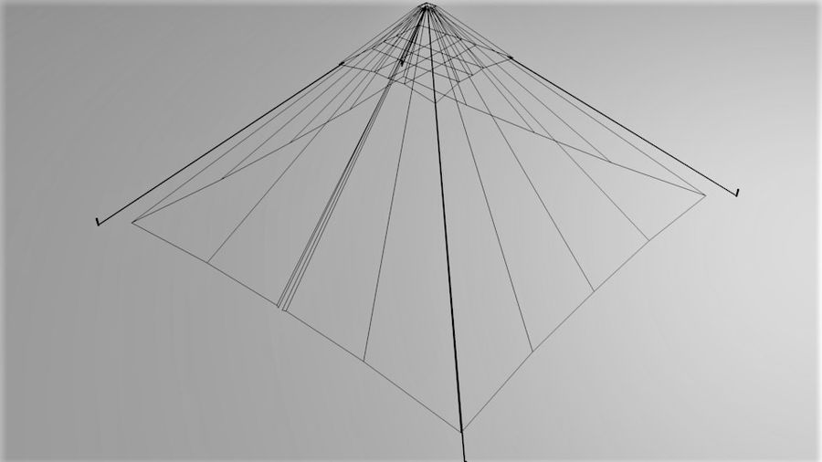 Pyramid Tent royalty-free 3d model - Preview no. 7
