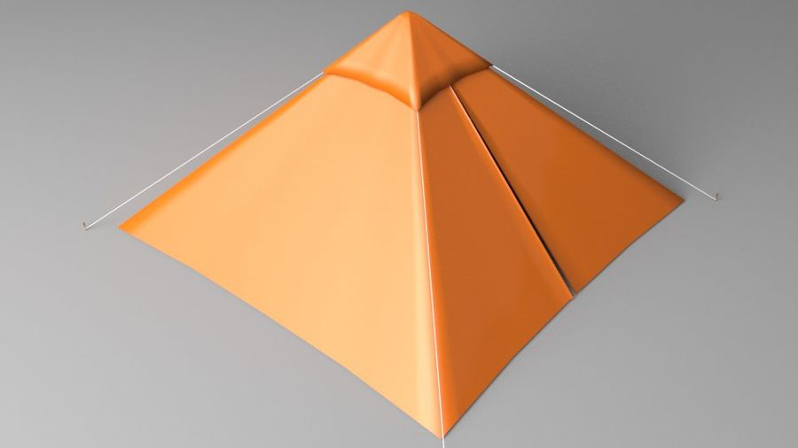 Pyramid Tent royalty-free 3d model - Preview no. 6